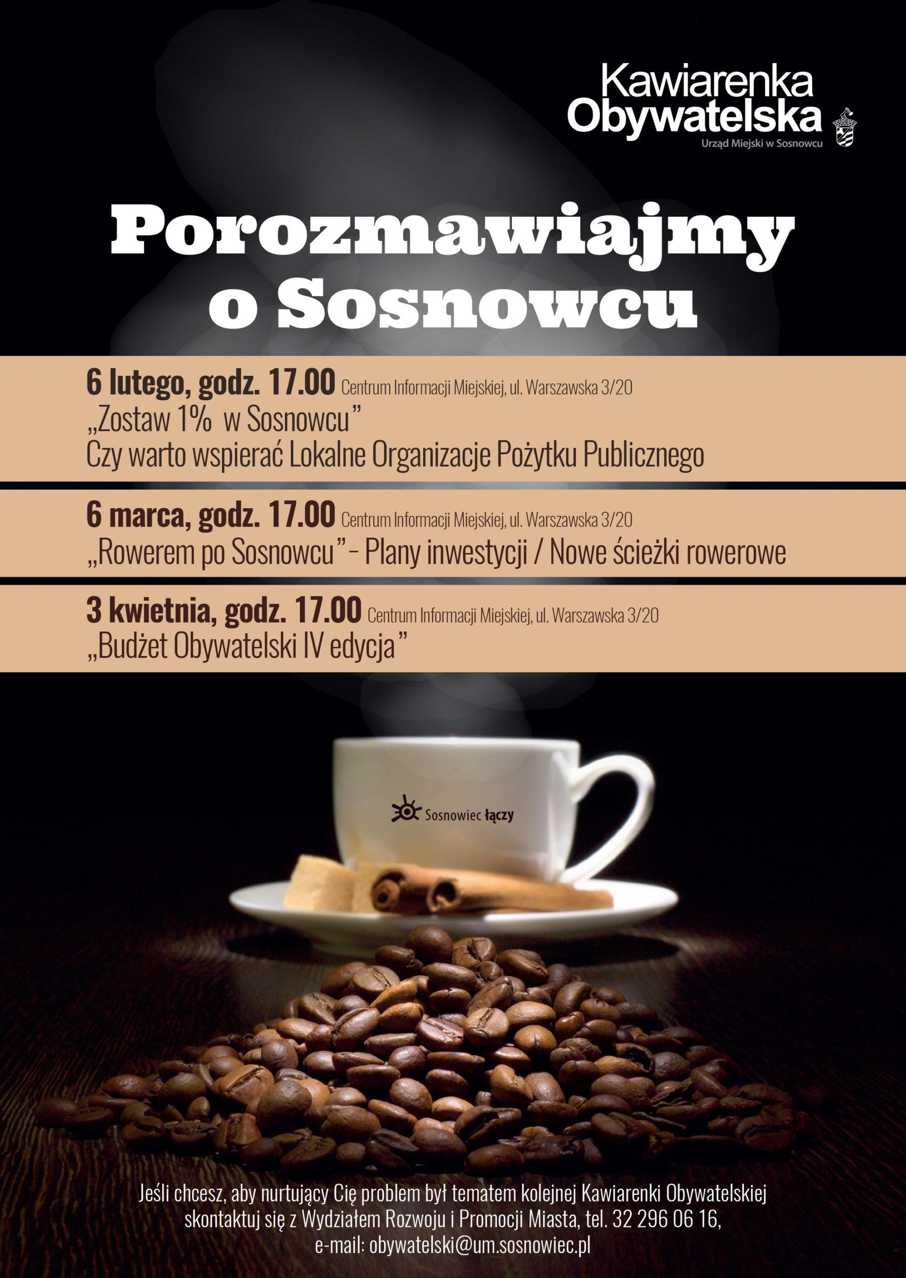 kawiarenka obywatelska OPP plakat