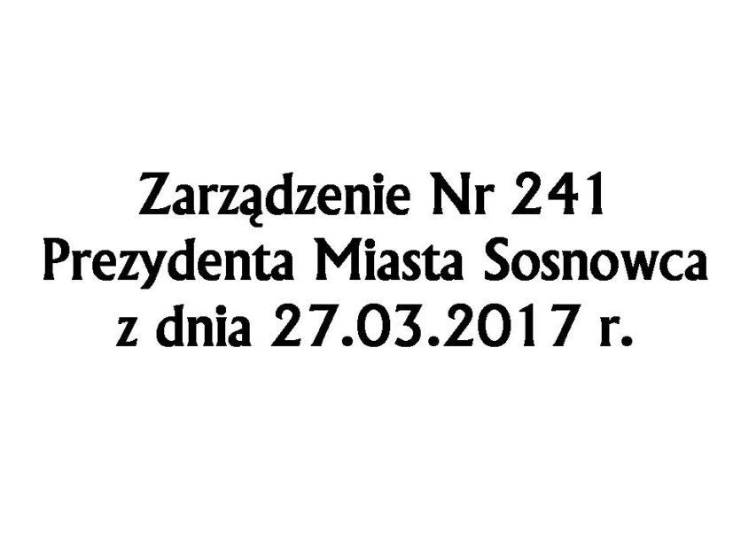 Zarządzenie Nr 241