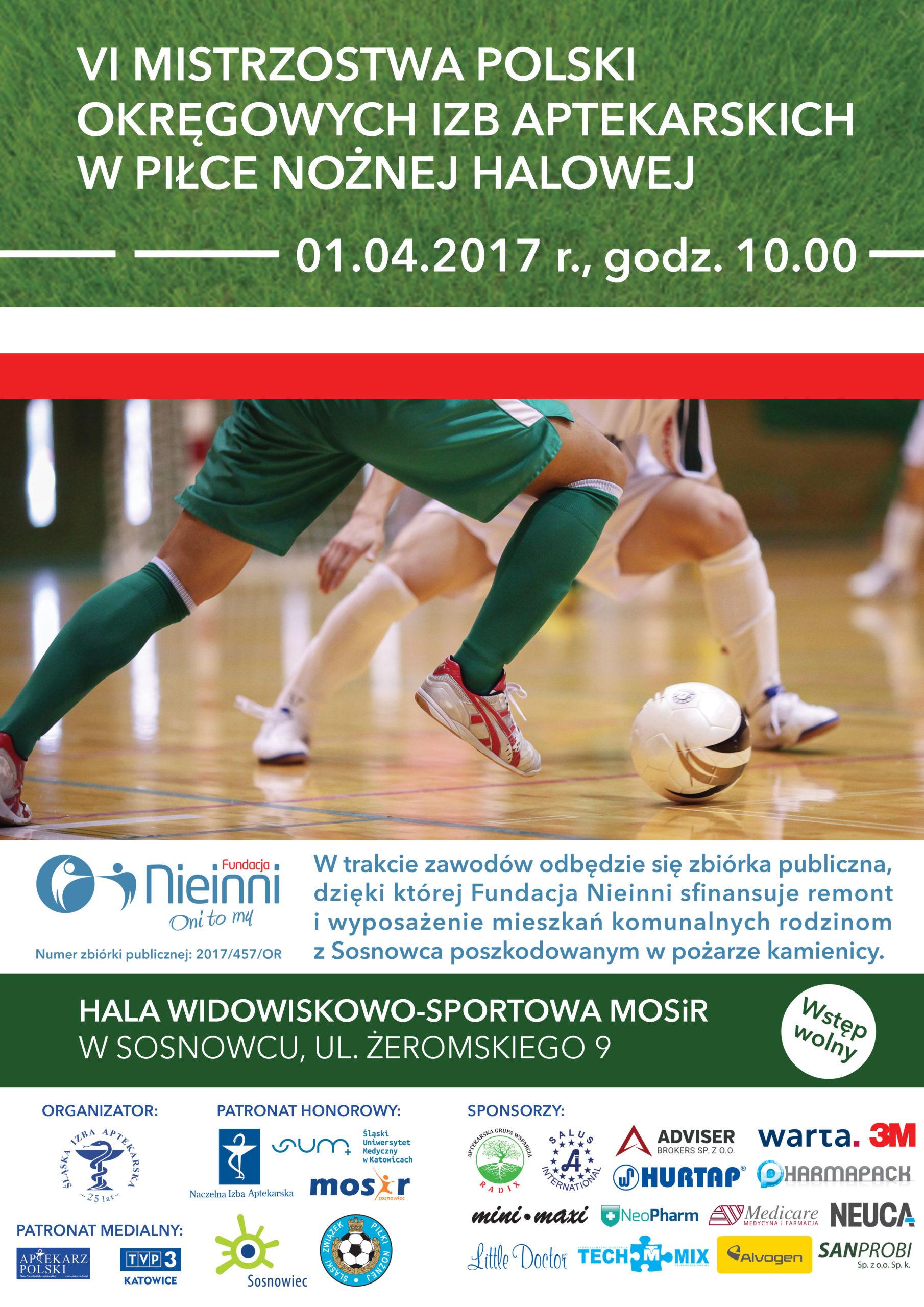 plakat VI Mistrzostwa Polski OIA Pilka Halowa 2017 04 01