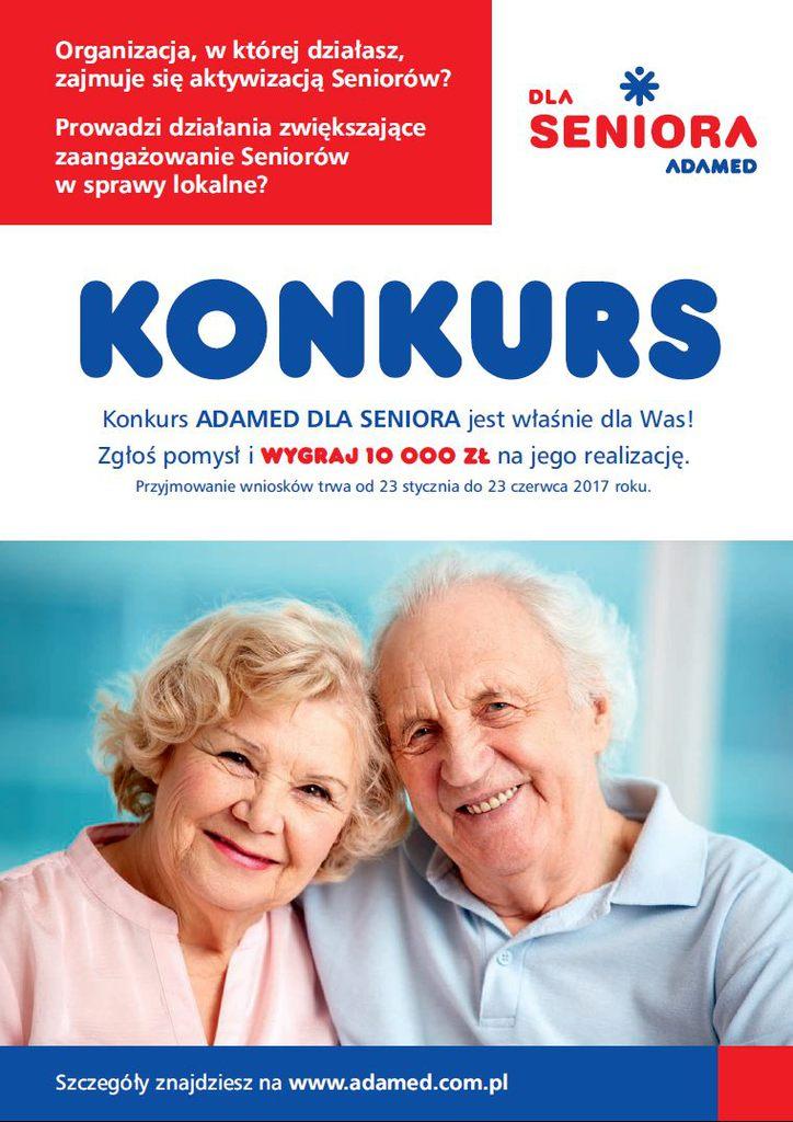 Grupa Adamed Adamed dla Seniora plakat