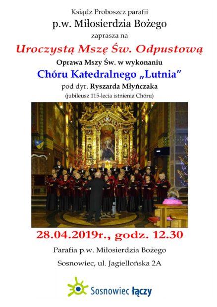 plakat Sosnowiec Miłosierdzia Bożego A3 1 1