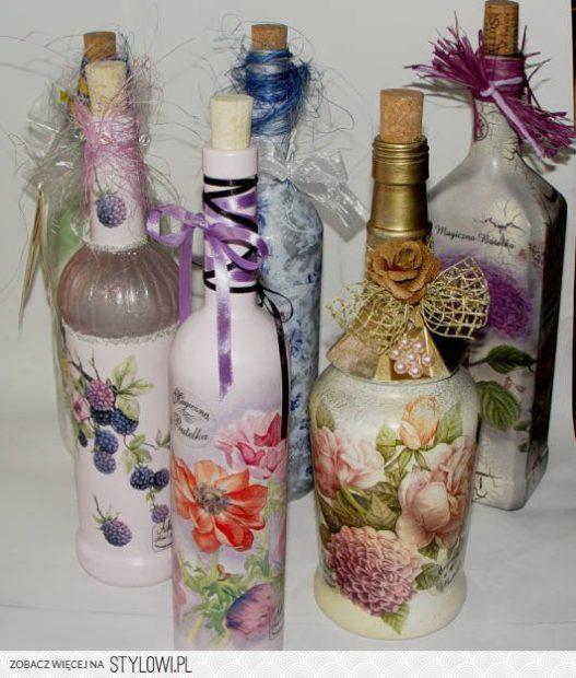 stylowi pl hobby galeria decoupage butelki decoupage butelki deco 11123130