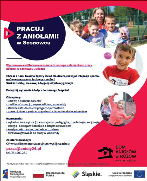 plakat praca wych Sosnowiec 09.08.2019