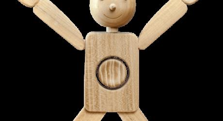 Drewniany pajacyk