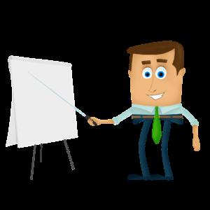 Animacja tablica biznesmen